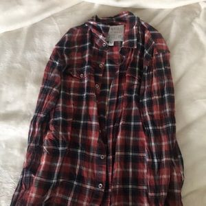 Soft red plaid Joes button down